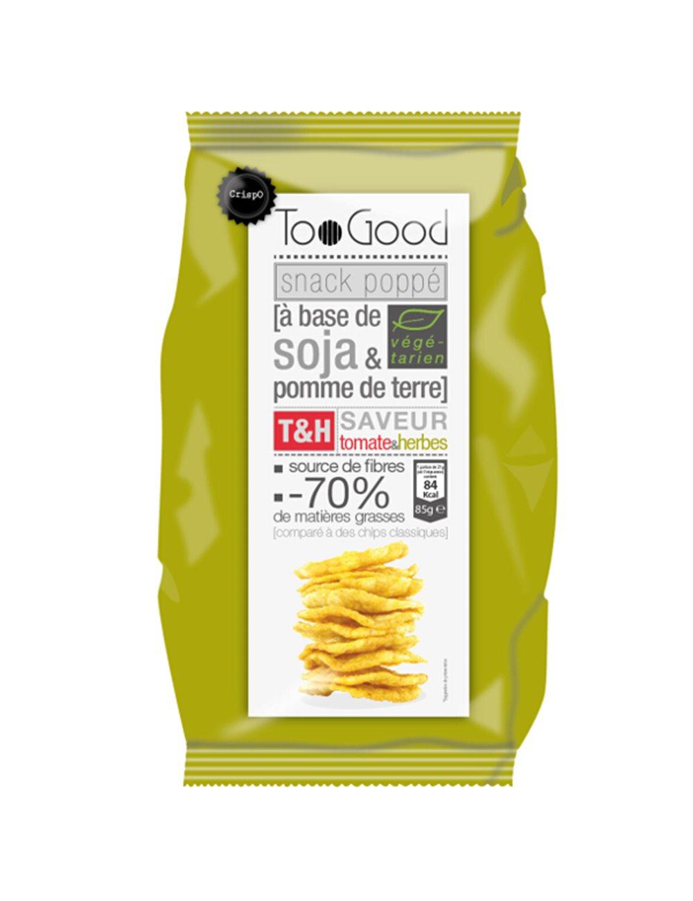 Gepopte chips met Tomaten & Kruiden 85g