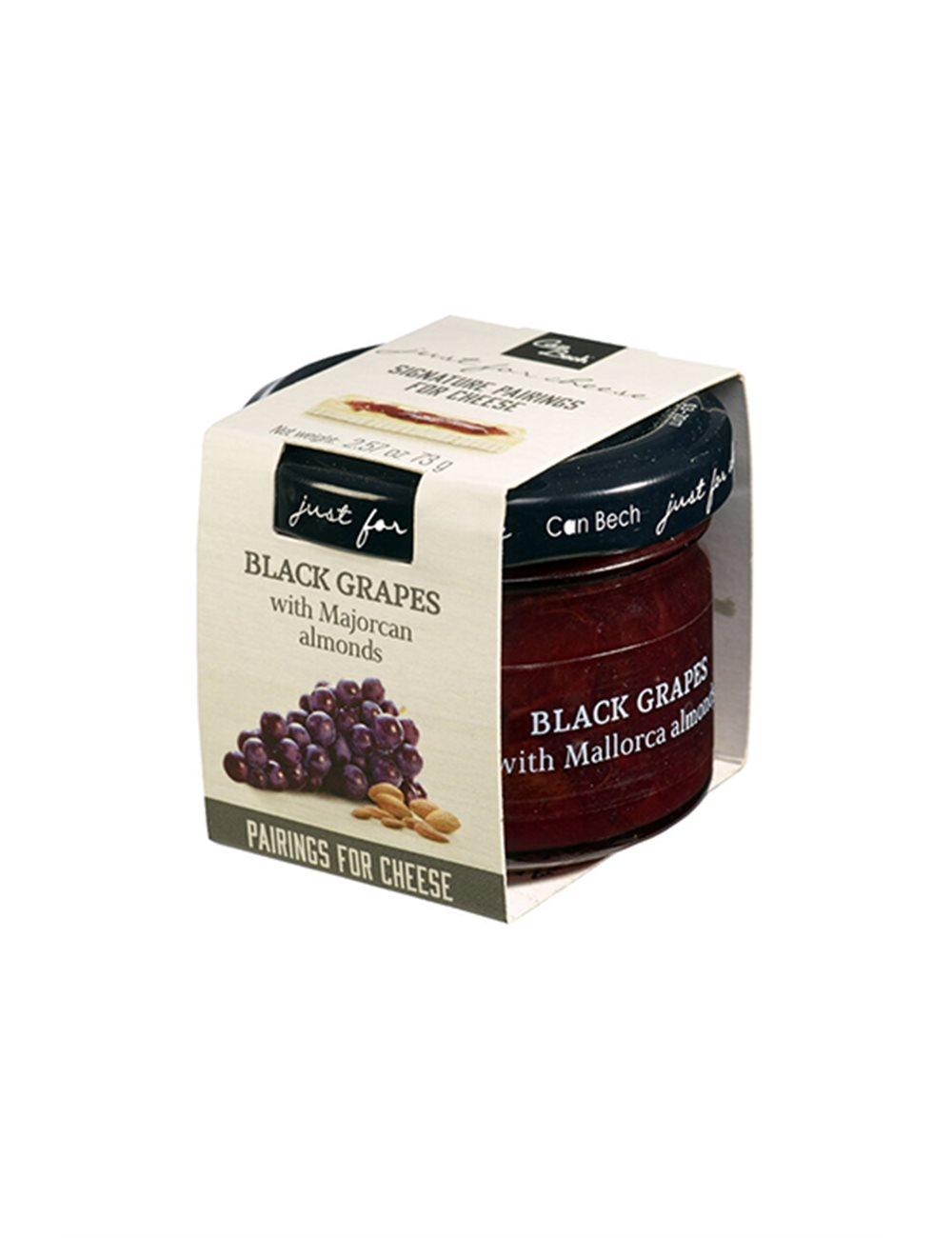 Mini Just for Cheese zwarte druiven met amandelen uit Mallorca 73g