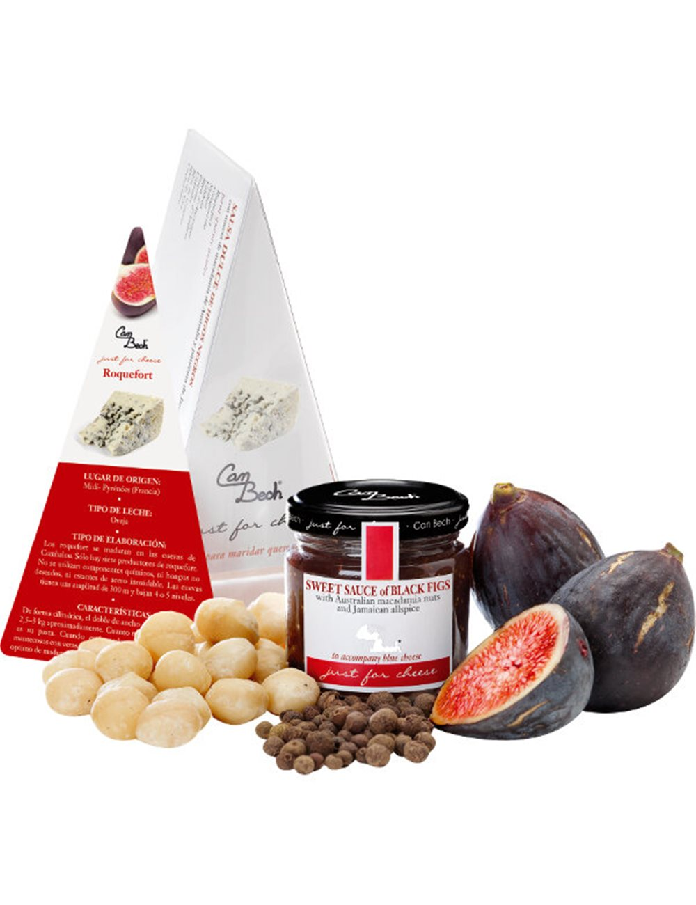 Just for Cheese Zwarte vijgen, macadamia & Jamaicaanse allspice. 115g