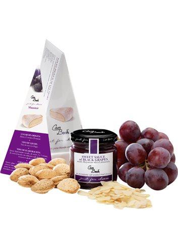 Just for Cheese zwarte druiven met amandelen uit Mallorca 115g