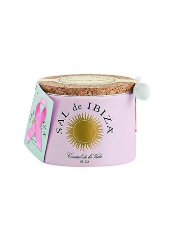 """Fleur de Sel, pot ceramique """"pink ribbon"""" 150g"""