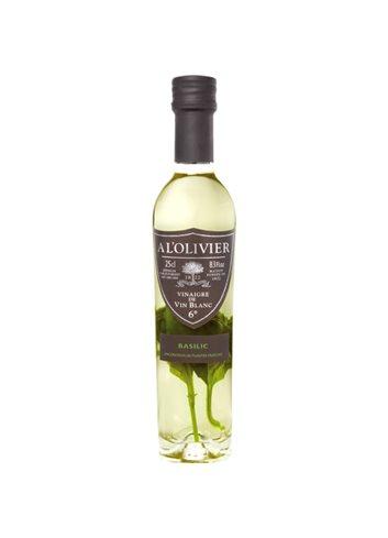 Vinaigre de vin blanc au basilic 250ml