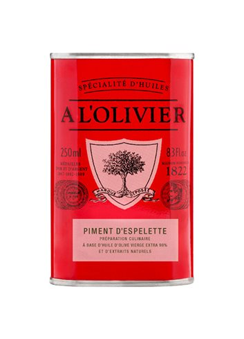 Bid. Rouge Huile d'Olive Piment Espelette 250ml