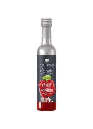 Shaker Olijfolie Basilicum & Rode Paprika azijn & Look & 5 Bessen 20cl