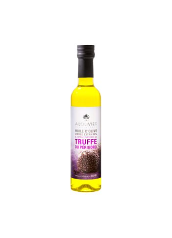 Olijfolie gearomatiseerd door zwarte truffel uit Périgord 25cl