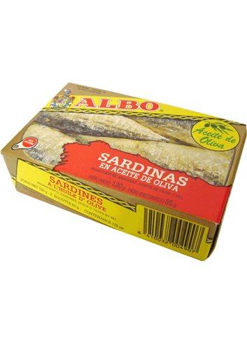 Sardines à l'huile d'olive 120g