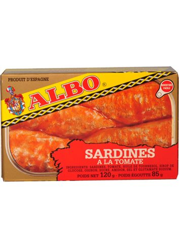 Sardienen met Tomatensaus 120gr