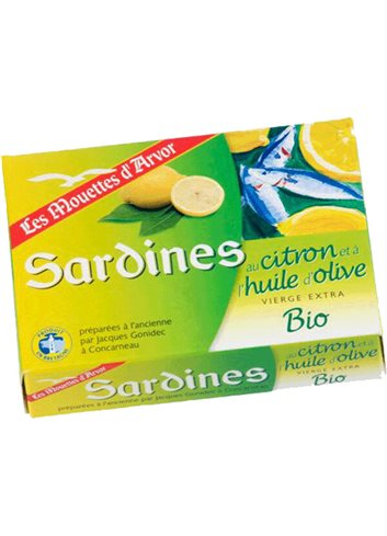 Sardines à l'Huile d'olive et citron BIO 115g