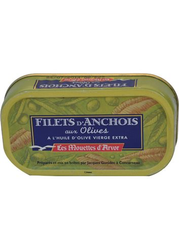 Filets d'anchois Olives & Huile d'olive 69g