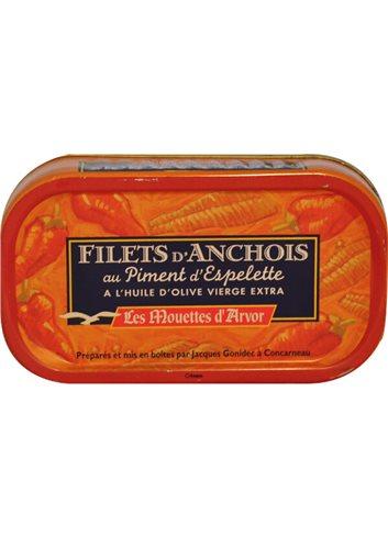 Filets d'anchois Espelette & Huile d'olive 69g