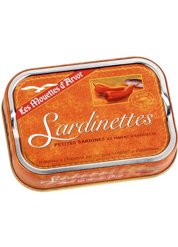 Sardinettes Espelette & Olijfolie 100g