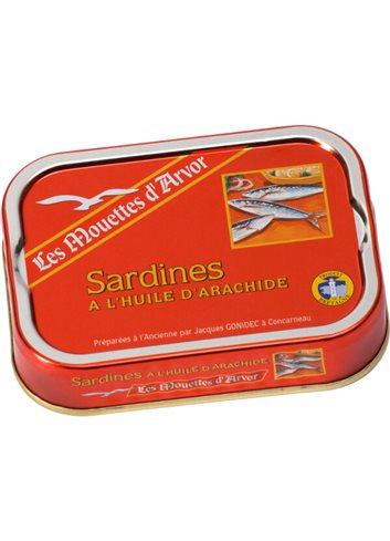 Sardines à l'huile d'arachide115g