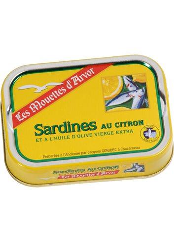 Sardines a l'huile d'olive et au citron 115g