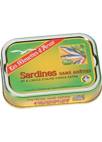 Sardines Huile d'Olive sans arête 115g