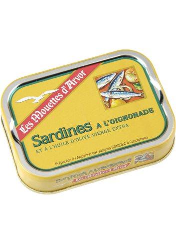 Sardines oignonade à l'huile d'olive 115g