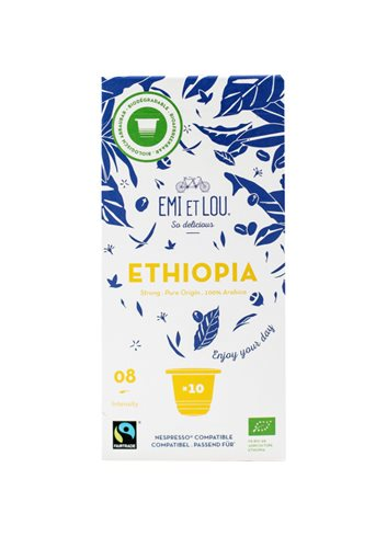 Ethiopia Bio Fairtrade Arabica Compost Caps (10x)