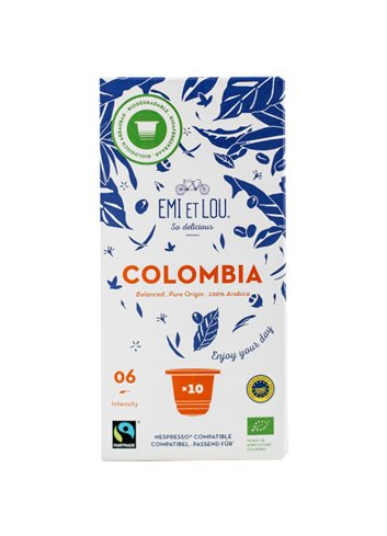 Colombia Bio Fairtrade Arabica Compost Caps (10x)