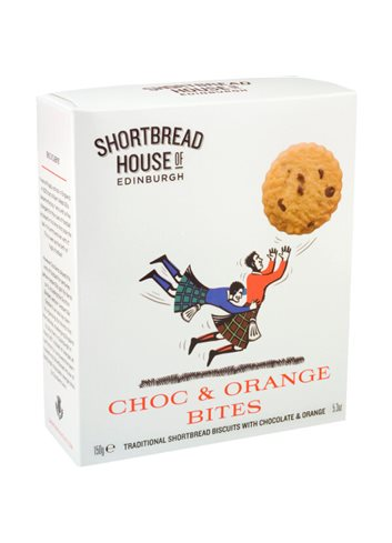 Shortbread Sport Choc & Orange Bites 150g