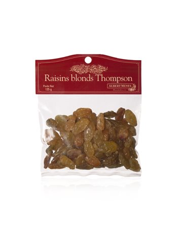Raisins Blonds Thompson 125 g