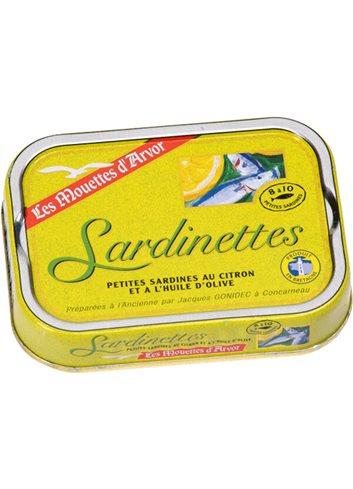 Sardinettes Citroen & Olijfolie 100g