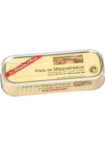 Filets de Maquereaux sauce crème moutarde 169g