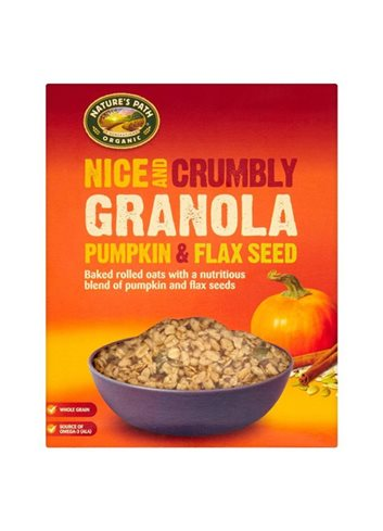 Nice & Crumbly pompoen, lijnzaad Granola (box) BIO/Glutenvrij 325g