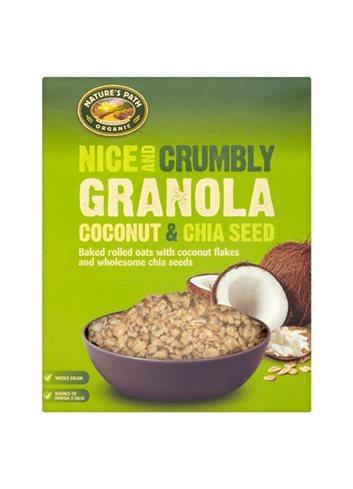 Nice & Crumbly Coconut & Chia zaad Granola (box) BIO/Glutenvrij 325g