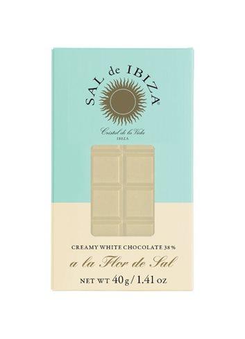 Chocolat BIO blanc crémeux à la fleur de sel 40g