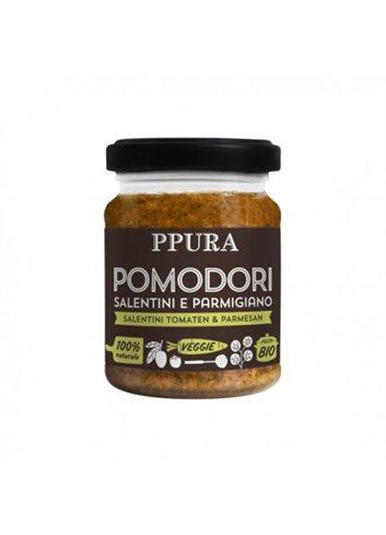 Pesto met Salentini-tomaten en parmigiano BIO 120g