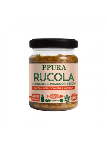 Pesto met Rucola, gedroogde tomaten en amandelen BIO 120g
