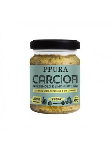 Pesto met artichokken, peterselie en Siciliaanse citroenen BIO 120g