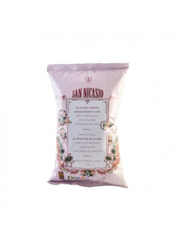 Chips Huile Olive EV & Sel Himalaya au paprika Espagnol fumé (Pimenton de la Vera) 150g