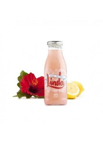 Limonade rose naturelle à la fleur d'hibiscus BIO 250ml
