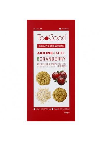 Biscuits croquants avoine & miel cranberry 125g