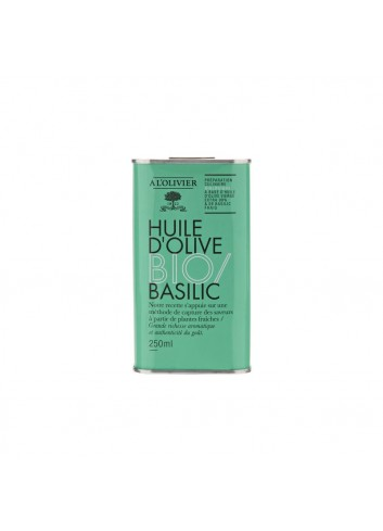 Bid. BIO Huile d'olive vierge extra infusé au basilic 250ml