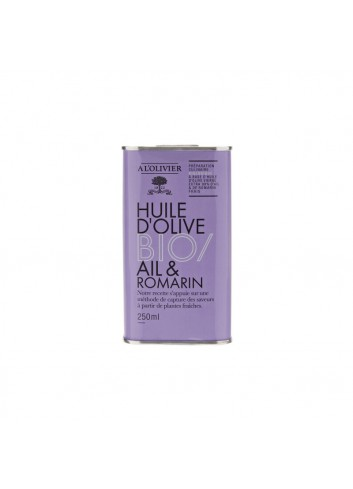 Bid. BIO Huile d'olive vierge extra infusé à l'ail & romarin 250ml
