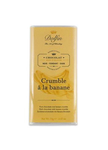 Noir 60% Crumble à la banane 70g