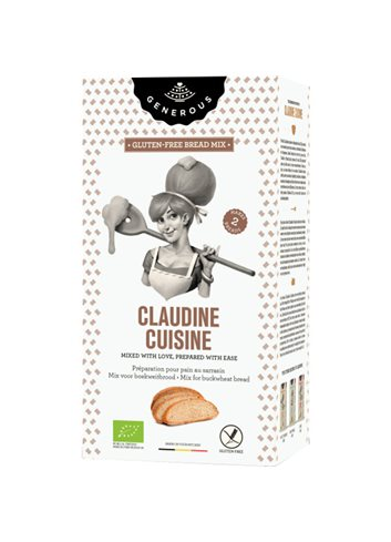 Claudine Cuisine - Mix voor boekweitbrood  BIO (glutenvrij)