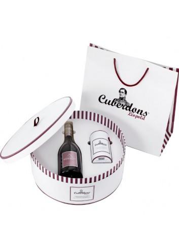 Giftset deluxe Champagne + Cuberdons 21 + zakje
